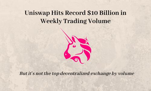 Uniswap Hits Record $10 Billion in Weekly Trading Volume