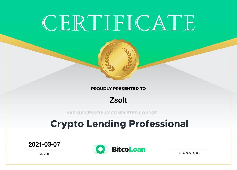 crypto lending course